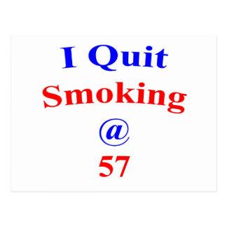 57 beendigtes Rauchen Postkarte