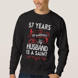 57. Jahrestags-Shirt für Ehefrau. Geschenk vom Sweatshirt
