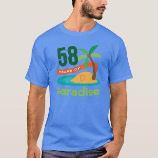 58. Hochzeitstag-lustiges Geschenk für sie T-Shirt