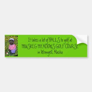 5-15-07 035, nimmt es viele BÄLLE zum Golf an… Autoaufkleber