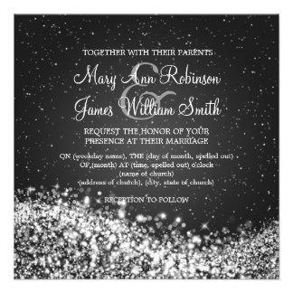 """5,25"""" elegante Hochzeits-funkelndes Personalisierte Einladungskarte"""