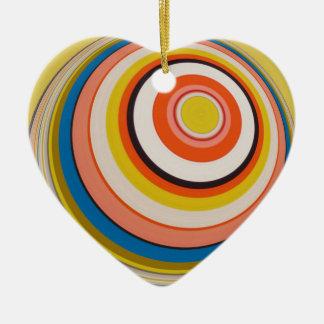 5>>><<<<5 KERAMIK Herz-Ornament
