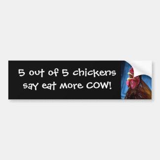 5 aus 5 Hühnern heraus sagen…. Autoaufkleber