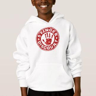5 Finger-Rabatt-Logo - Erdbeere Hoodie