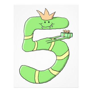 5. Geburtstags-Cartoon, grün Flyerdruck
