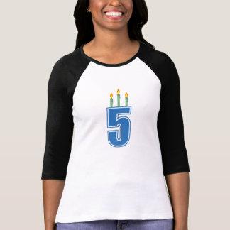 5 Geburtstags-Kerzen (Blau/Grün) T-Shirt