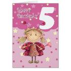 5. Geburtstagskarte mit niedlicher Marienkäferfee Karte