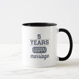 5 Jahre glückliche Heirat- Tasse