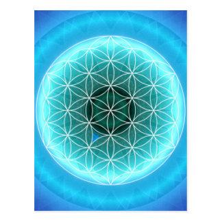5 Kehle chakra hellblaue geschaffen durch Tutti Postkarte