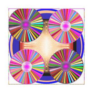 5 KUNST des RAD-CHAKRA abstrakter Mandala Leinwanddruck