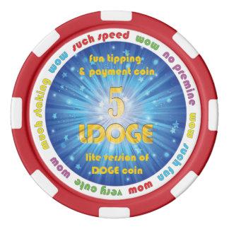 5 LDOGE Poker-Chip Poker Chip Sets