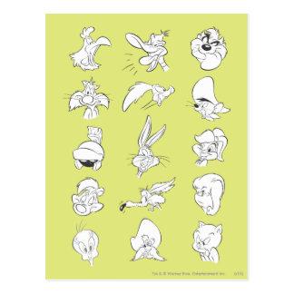 # 5 Looney Melodien-Foto OP Postkarte