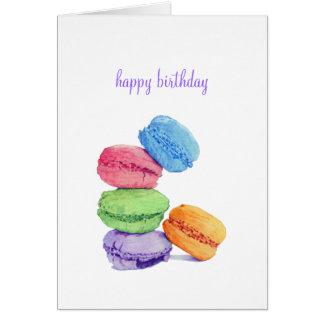 5 Macarons Geburtstags-Karte