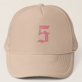 #5 rosa Olde Englisch Truckerkappe