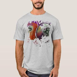 5 und 8 Billard-Bälle abstrakt T-Shirt