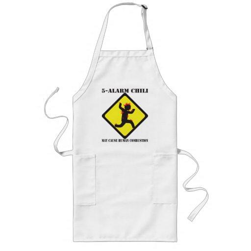 5 Warnungs-Chili, der Schürze kocht
