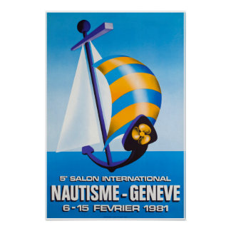 5e Salon internationales Nautisme, Genève, Plakat