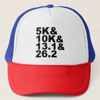 5K&10K&13.1&26.2 (Schwarzes) Truckerkappe