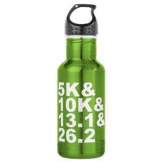 5K&10K&13.1&26.2 (weiß) Edelstahlflasche