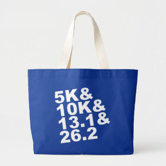 5K&10K&13.1&26.2 (weiß) Jumbo Stoffbeutel