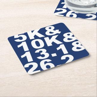 5K&10K&13.1&26.2 (weiß) Rechteckiger Pappuntersetzer
