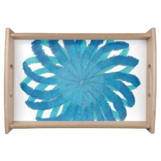 5th-Throat Chakra blaue Grafik #1 Tablett