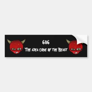 606 die Postleitzahl des Tieres Autoaufkleber