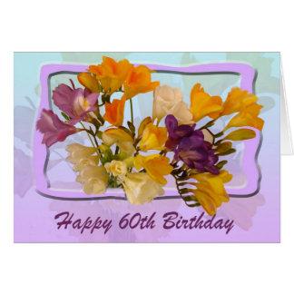 60. Alles- Gute zum Geburtstagkarte - Freesias Karte