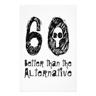 60 besser als lustiger Geburtstag Q04 der Bedruckte Flyer