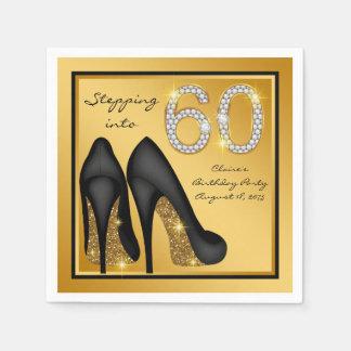 60. der Geburtstags-Party der Frau Papierserviette