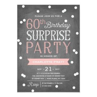 60. Geburtstag der Confetti-Überraschungs-Party 12,7 X 17,8 Cm Einladungskarte