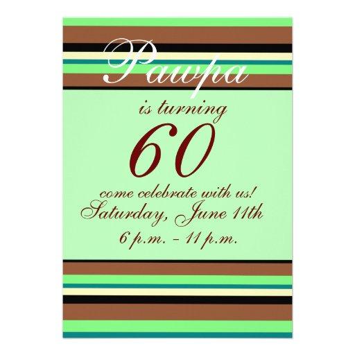 60. Geburtstag Einladung 12,7 X 17,8 Cm Einladungskarte | Zazzle