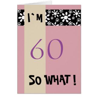 60. Geburtstag für ihr lustiges motivierend Karte
