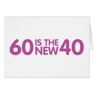 60. Geburtstag Karte