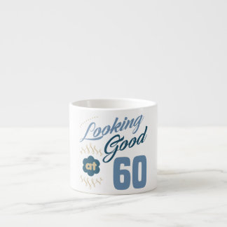 60. Geburtstag schauend gut Espresso-Tasse