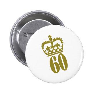 60. Geburtstag - Zahl - sechzig Buttons