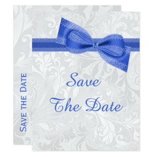 60. Geburtstags-Damast und Imitat beugt Save the 10,8 X 14 Cm Einladungskarte