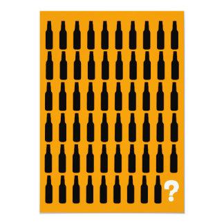 60. Geburtstags-Einladungen - Bier-Beifall! 12,7 X 17,8 Cm Einladungskarte