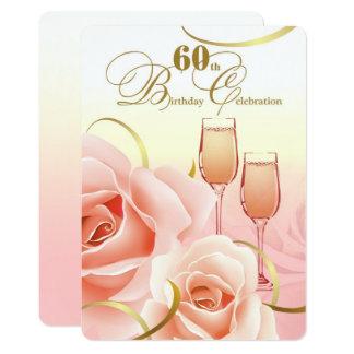 60. Geburtstags-Feier-Gewohnheits-Einladungen 12,7 X 17,8 Cm Einladungskarte