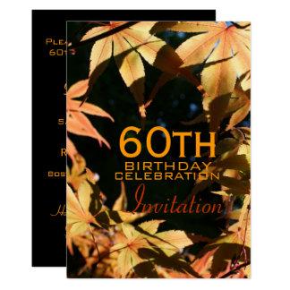 60. Geburtstags-Feier-Herbst-Gewohnheits-Einladung 12,7 X 17,8 Cm Einladungskarte