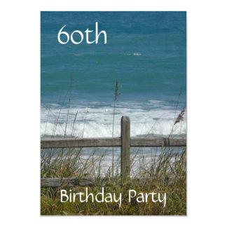 60. Geburtstags-Feier-Ozean/Mann Karte