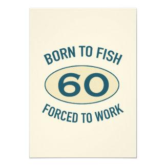 60. Geburtstags-Fischen 12,7 X 17,8 Cm Einladungskarte