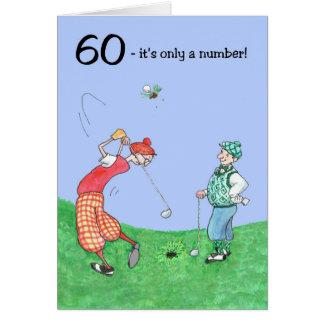 60. Geburtstags-Karte für einen Golfspieler