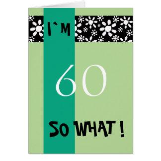 60. Geburtstags-lustiges motivierend Karte
