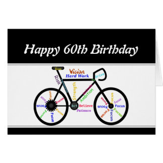 60. Geburtstags-motivierend Grußkarte
