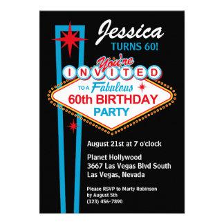 60 Geburtstags-Party Einladung Las Vegas
