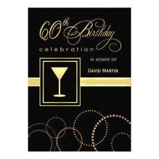 60 Geburtstags-Party Einladungen - mit Monogramm