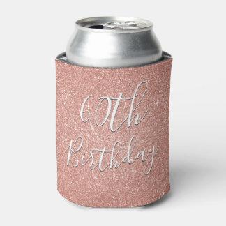 60. Geburtstags-Party-Rosen-Gold erröten rosa Dosenkühler