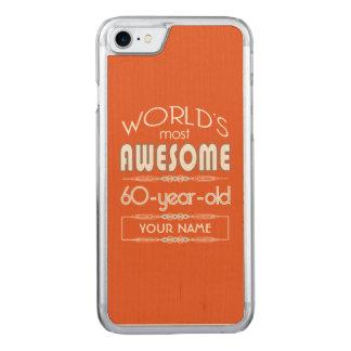 60. Geburtstags-Weltbeste fabelhafte Carved iPhone 8/7 Hülle
