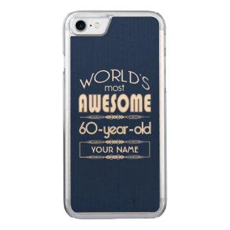 60. Geburtstags-Weltgut fabelhaftes dunkelblaues Carved iPhone 8/7 Hülle